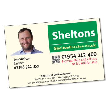 Ben Shelton - business card